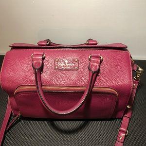 Kate Spade red plum satchel